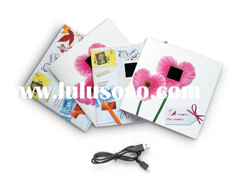 digital photo frame ,greeting card shape digital photo frame