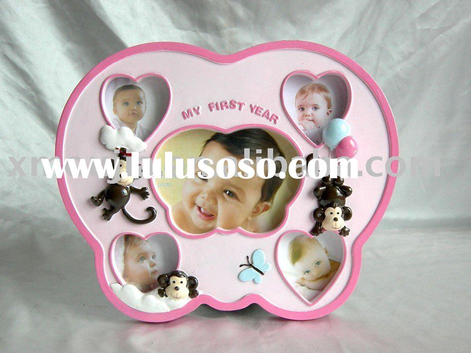 poly 5 pic.batterfly shape funny photo frame