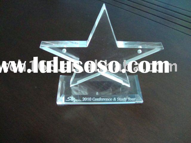 star shape acrylic photo frame with engraved logo
