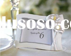 wedding favor--Swaying Calla Lilty Pearlescent Place Card Holder/ Photo Frame