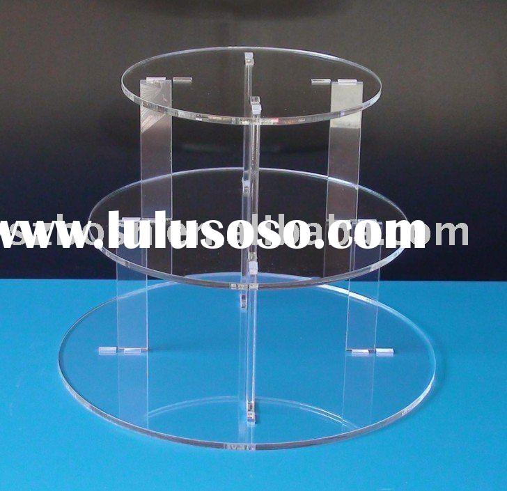 3-Tier Wedding Acrylic Cupcake Display, Acrylic Cupcake Stand, Acrylic Bakery Display