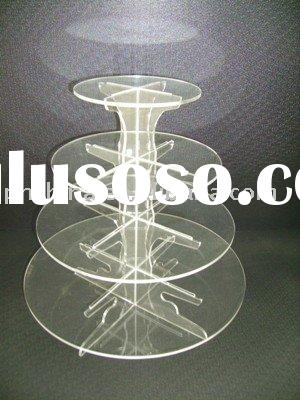 4 Tiers Acrylic Cupcake Display Stand