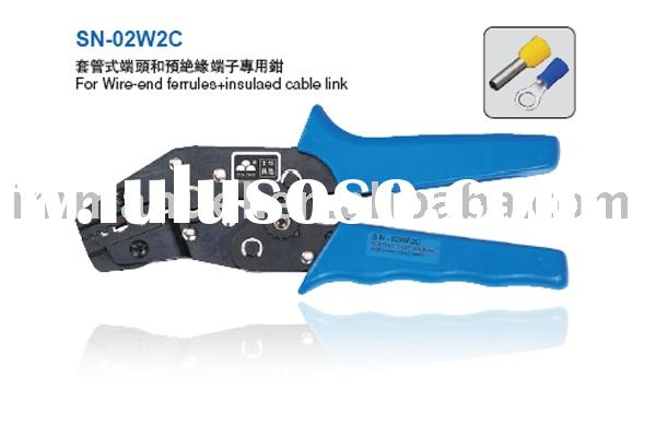 7.5'' Ratchet Crimping Plier Used For Wire-End Ferrules&Insulated Cable Link(SNA