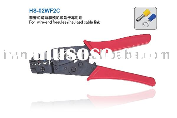 8'' Ratchet Crimping Plier Used For Wire-End Ferrules&Insulated Cable Link(HS-02