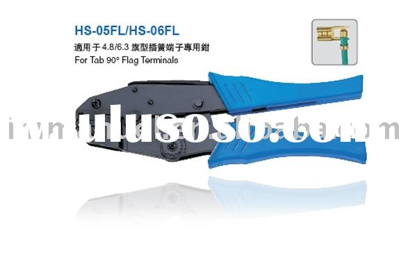 9'' Ratchet Crimping Plier Used For Flag Style Non-Insulated Terminals(HS-05/06FL)