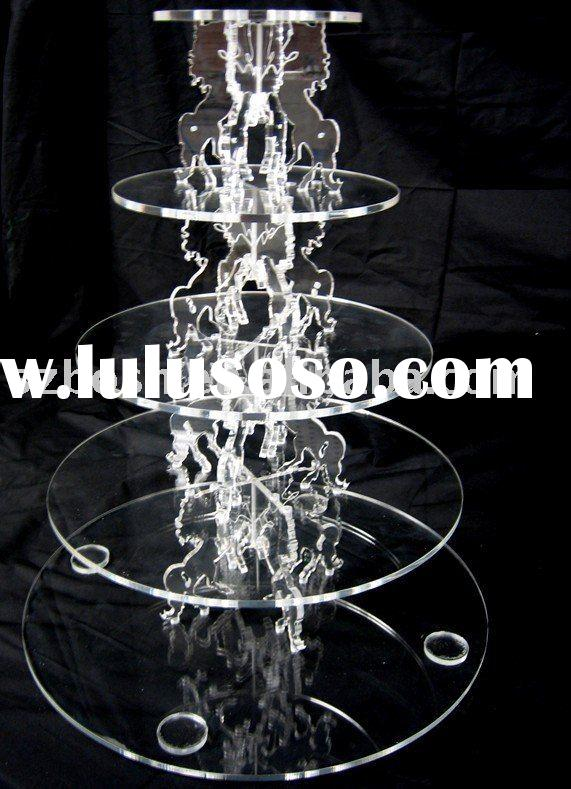 Acrylic Cupcake Stand,Plexiglass Bread Display,Lucite Bakery Stand