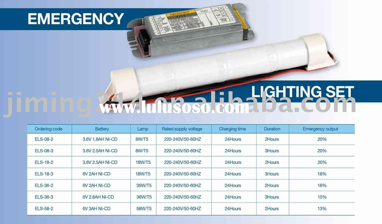 Extra Fluorescent Mains Conversion kits/Emergency Lighting set-ELS series