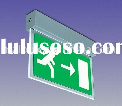 LED Rechargeable automatic exit sign for emergency