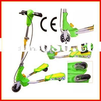 NEW HOT SALE FOLDAWAY YELLOW-GREEN FROG KICK SCOOTER 3 WHEEL SCOOTER (QXL--2803)
