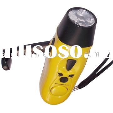 Outdoor traval use emergency dynamo 5 LED light torch with mobile charger, FM Radio, Alarm function