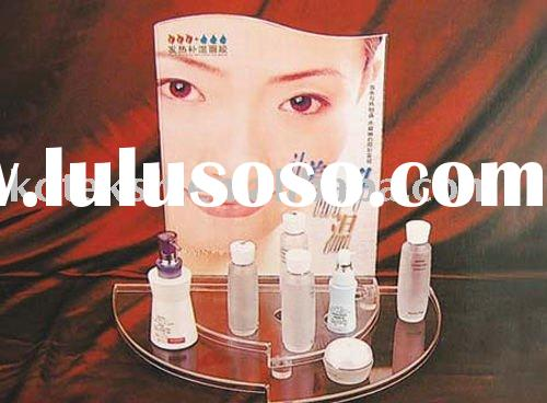 acrylic mirror cosmetic display stand