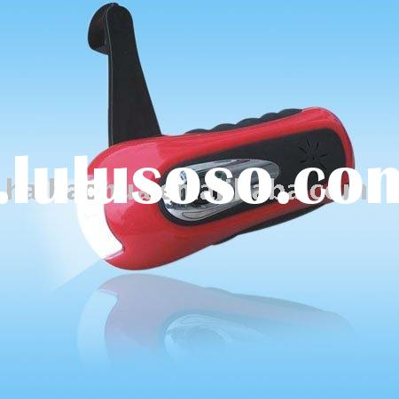 dynamo/ led emergency flashlight/mobile phong charger