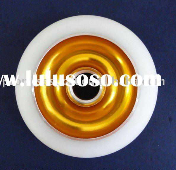 inline pu wheel metal core for pro scooter,scooter wheel,metal core pu wheel reach CE