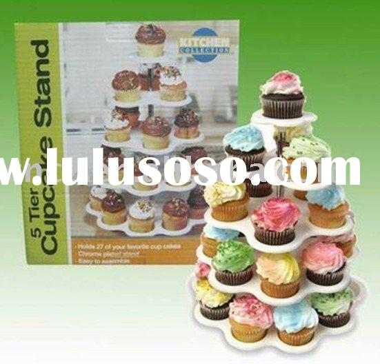 plastic cupcake stand/5tier cupcake stand/cake display