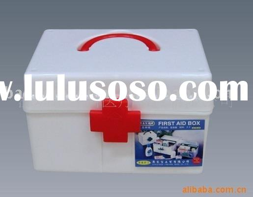 promotion empty first aid box for factory,home,school (white mini plastic box)