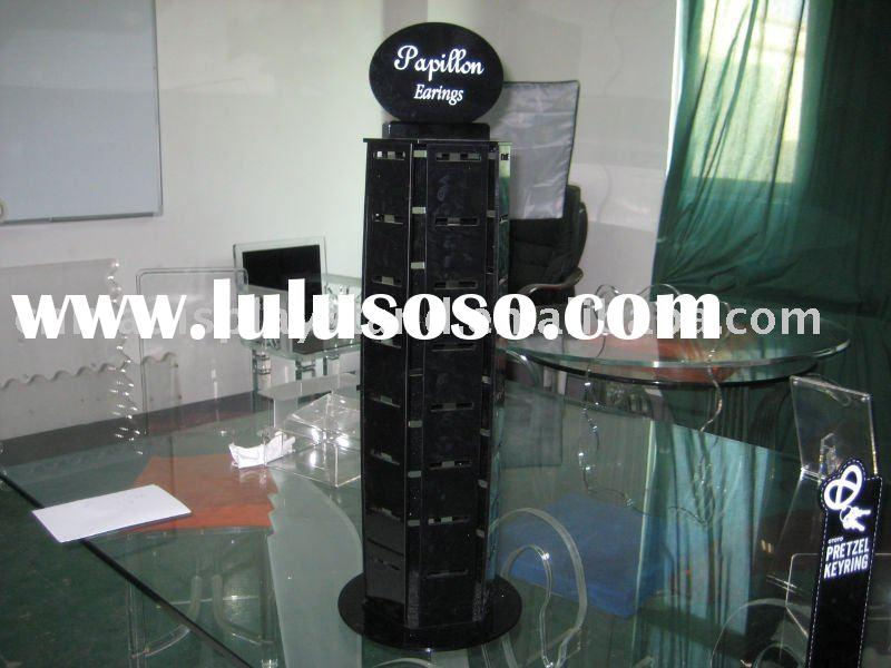 revolving acrylic earring card display stand