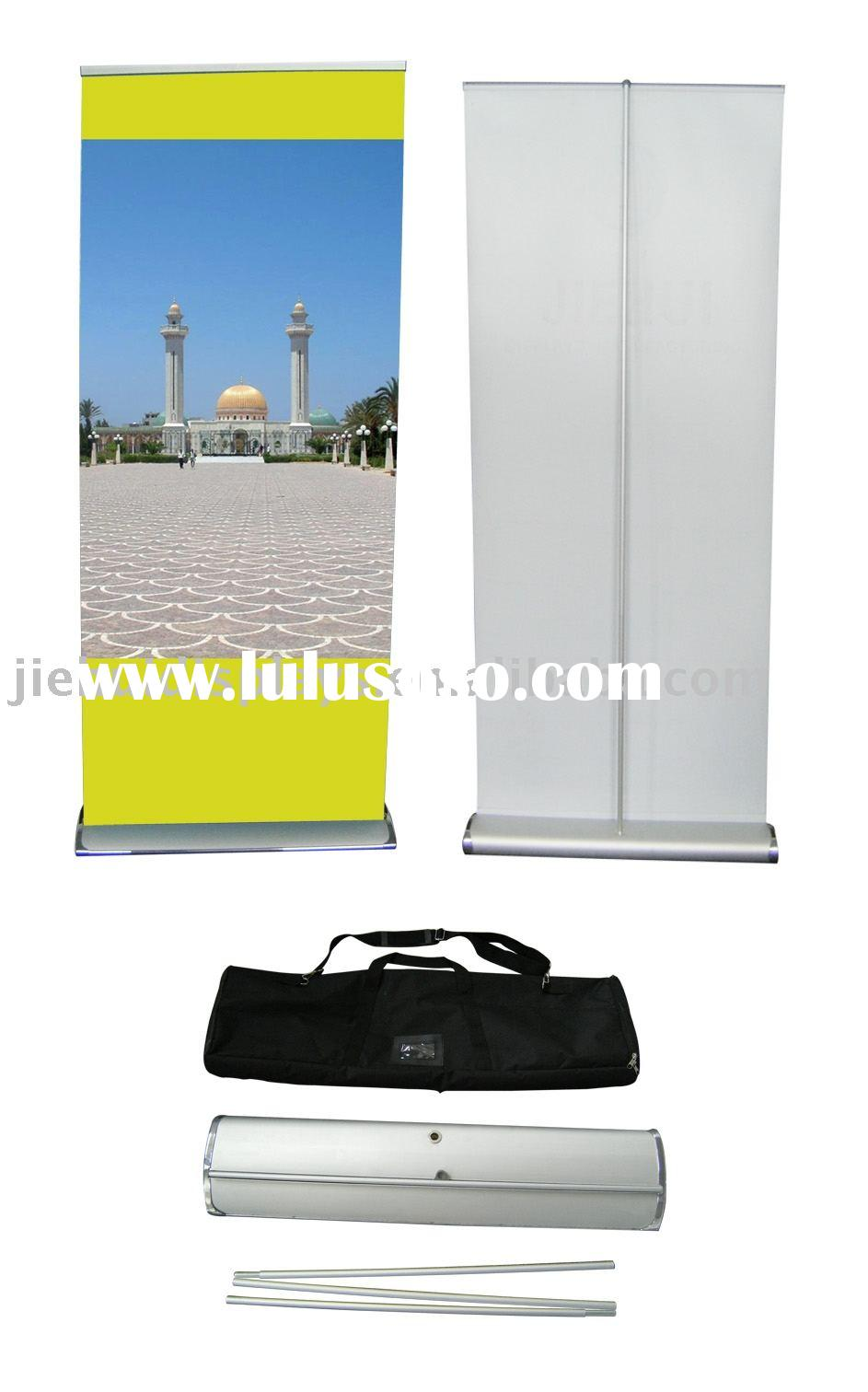 roll up display, trade show stand, banner stand