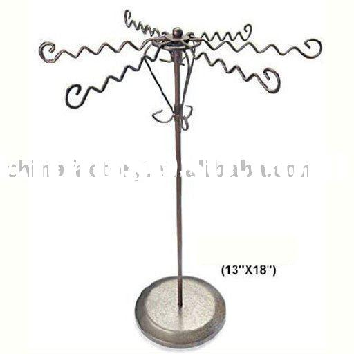 wholesale  metal necklace counter jewelry display stand