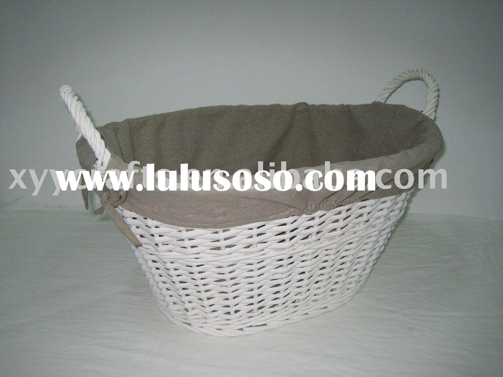 1pc wicker laundry basket with liner