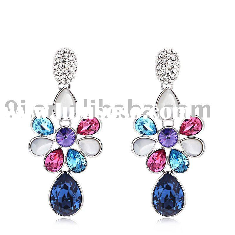 2011 Fashion crystal slap-up earring jewelry with alloy