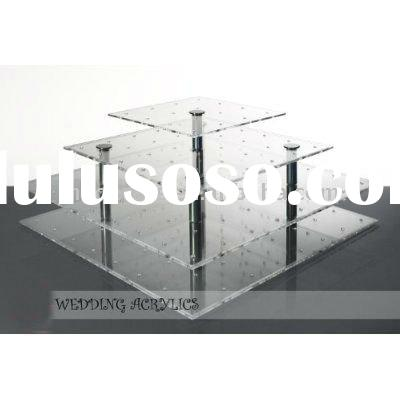 3 tier square acrylic cake pop stand