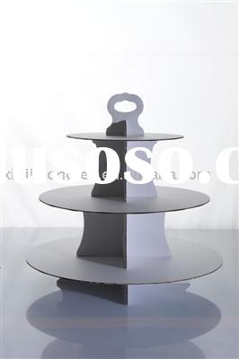 3 tiers paper disposable cake stand
