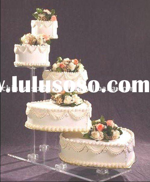 5 tier acrylic wedding cake stands