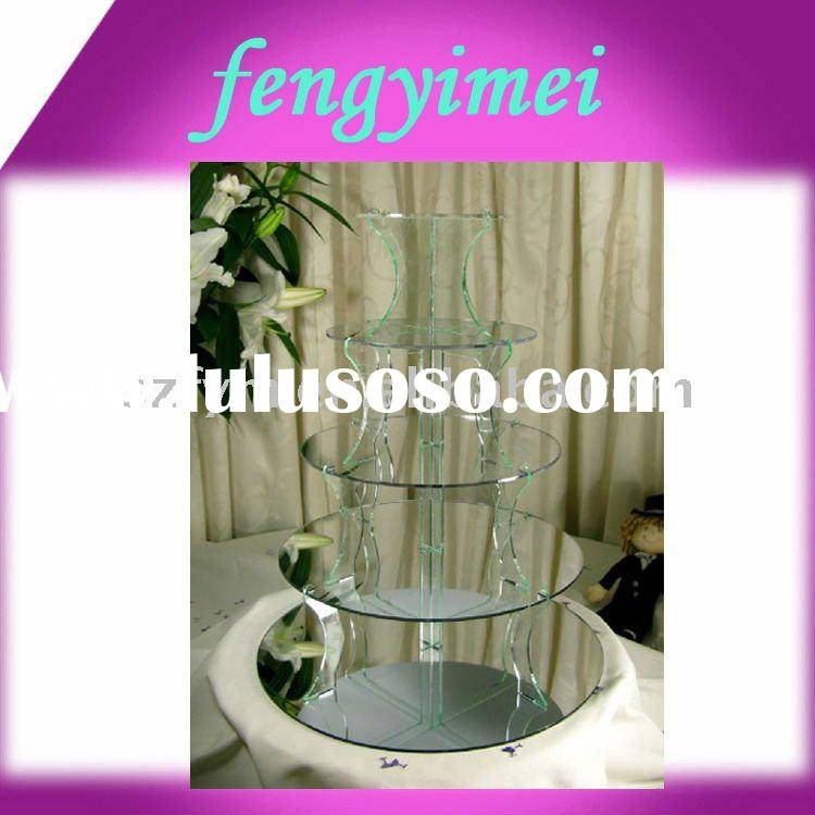 5-tiers Mirror  Acrylic  Cupcake Stand, Cake Stand Holder  FYM-CPD05312