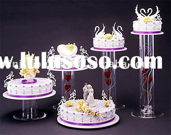 5 tiers acrylic nesting cylinder cake stand