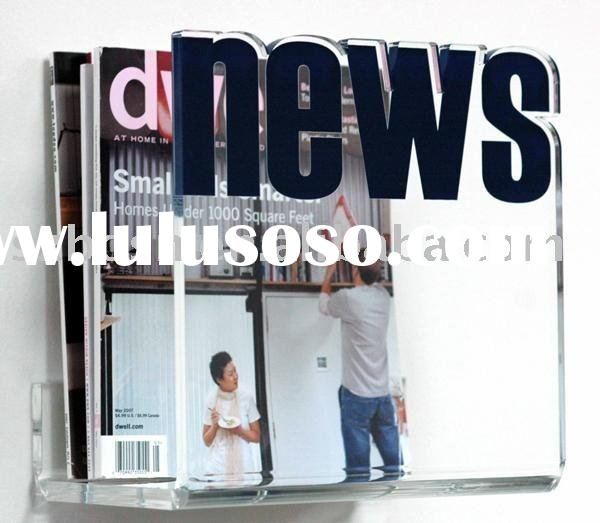 Acrylic Brochure Holder,Plexiglass Literature Stand,Acrylic Newspaper Stand