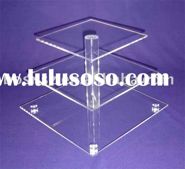 Acrylic Cupcake Stand,Plexiglass Bakery Display Stand,Lucite Bread Display Stand