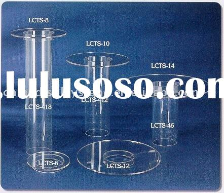 Acrylic Tube Cake Stands