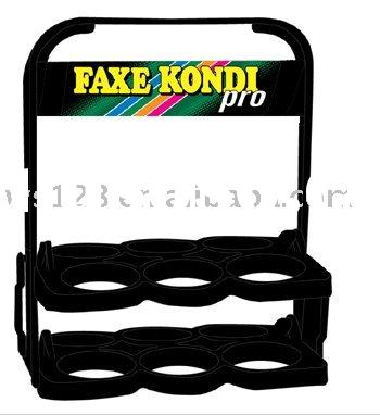 Black Plastic Beer Basket