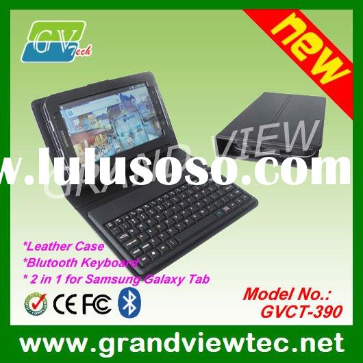 Bluetooth Keyboard for Samsung Galaxy Tab P1000 -- With Leather Case & Adjustable Stand