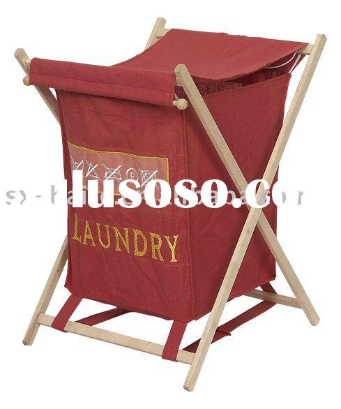 Canvas Laundry Basket Collapsible Laundry Bag Folding Laundry Hamper