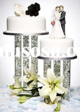 Clear Acrylic Wedding  Cake Stand