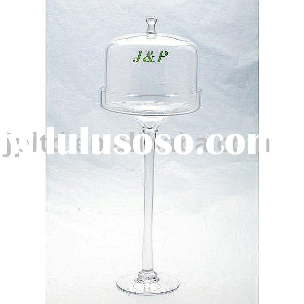 Clear glass cake stand and cake dome/tableware/glassware