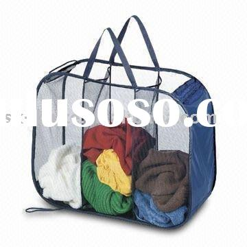 Collapsible Mesh Laundry Basket Folding  Laundry Bag