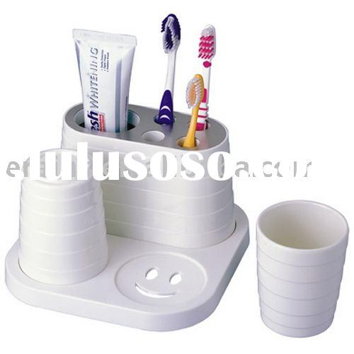 Dental stuff set toothbrush stand and toothpaste holder with cup combo