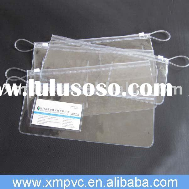 Frosted or clear pvc Plastic zipper lock bag D-Z057