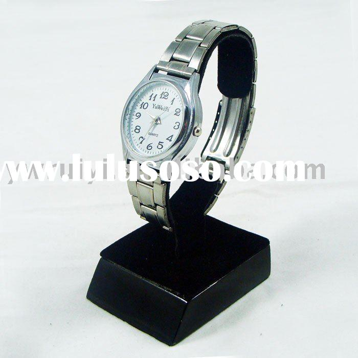 High Quality Watch Display Stand Wooden Base Black
