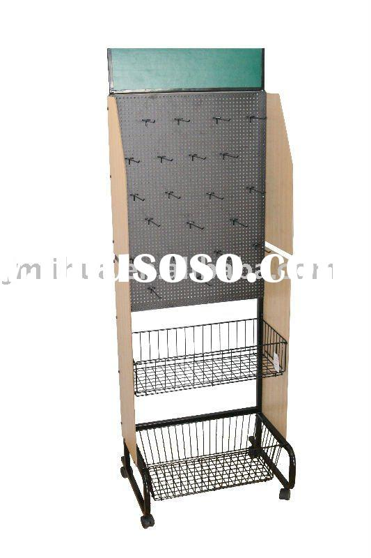 Metal Display Stand with MDF Perforated Plate