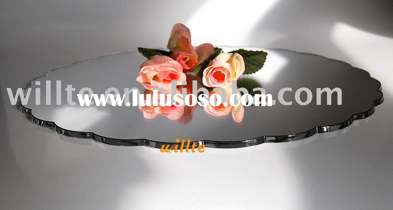 Mirror Acrylic Petal Cake Plate Stand