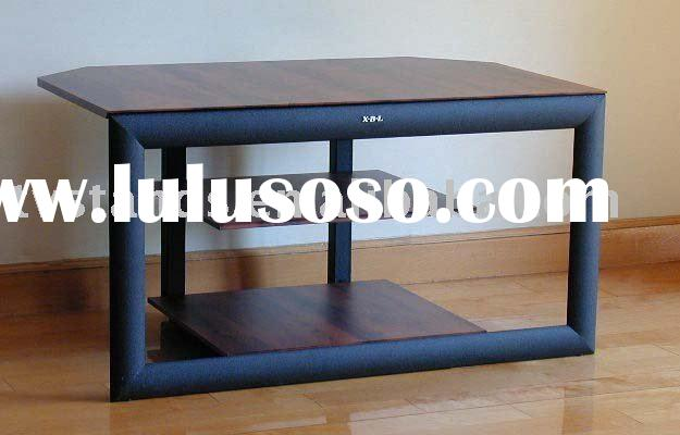 Modern small tv stand of wood lcd tv stand