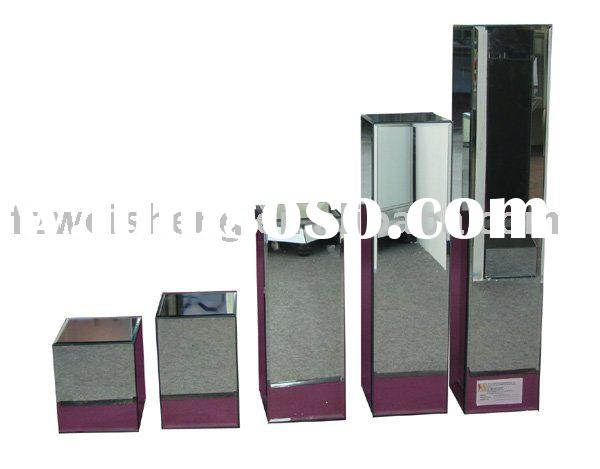 New Design Glass&MDF Flower Stand Set of 5