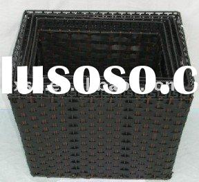 Rectangle plastic laundry basket