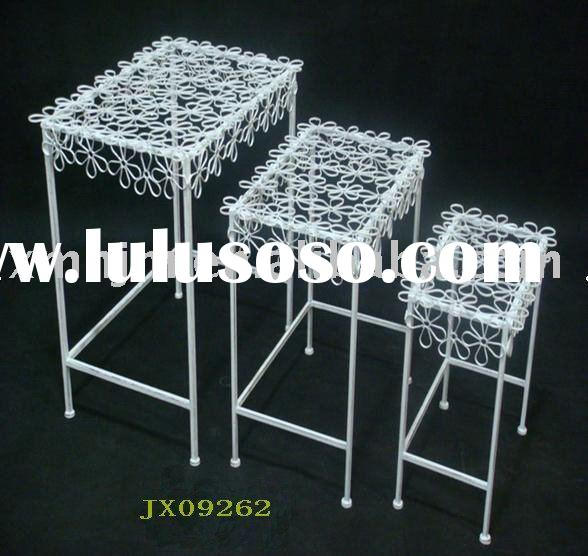 S/3 metal plant stand &flower stand