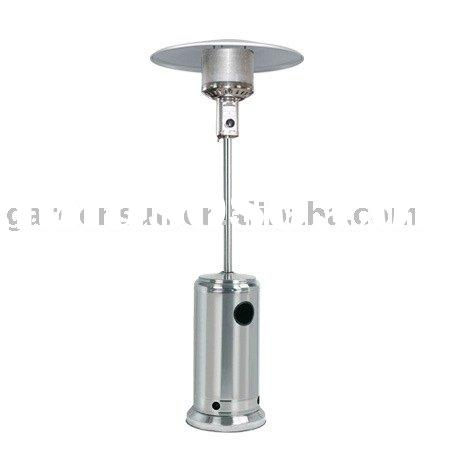 Stand-up stainless steel patio heater