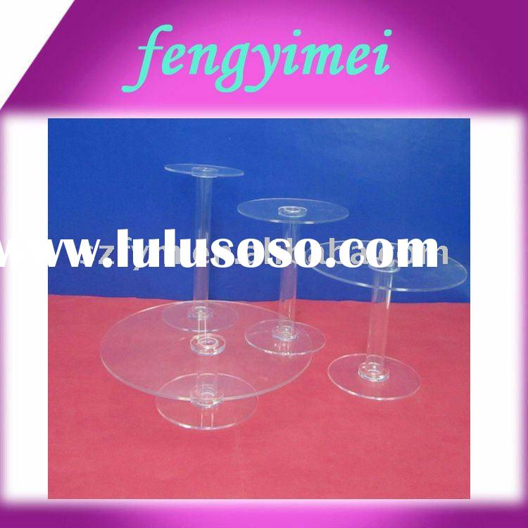 Transparent acrylic cupcake stand,perspex cake tower FYM-CPD060703