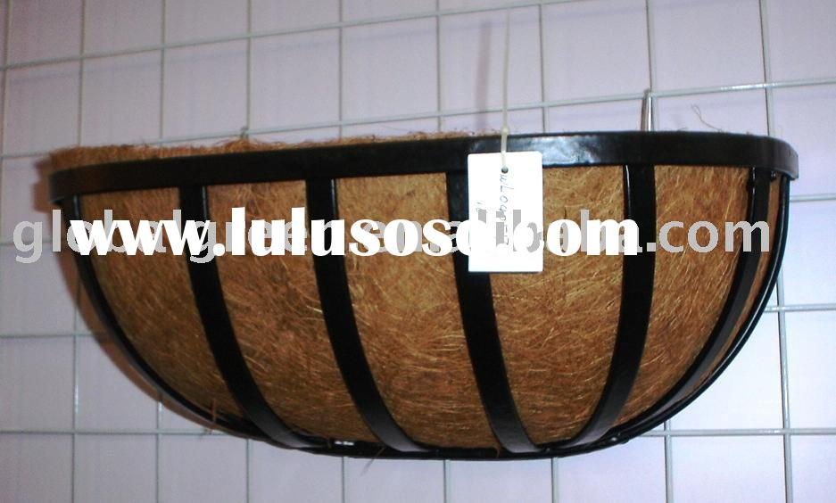 Wire Wall Basket with Coconut Liner,Garden decoration,Flower planter